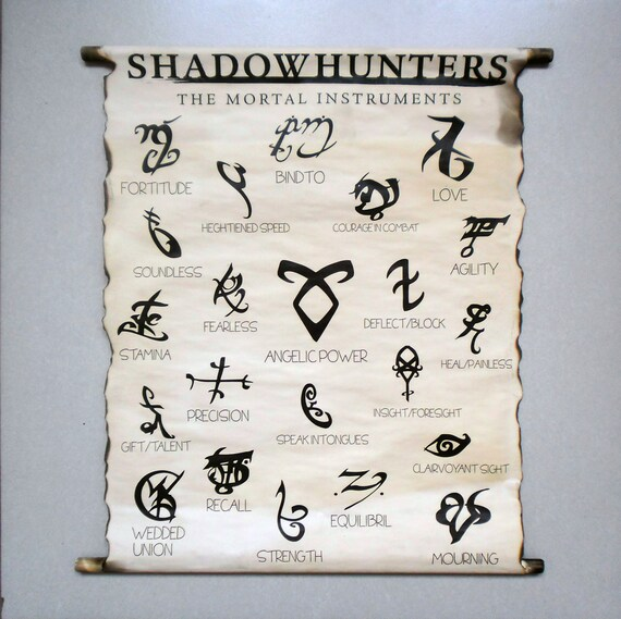 Shadowhunters Runes The Mortal Instruments Books Runes By