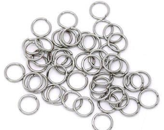 70 rings silver 10 mm x 1 mm, 1 cm