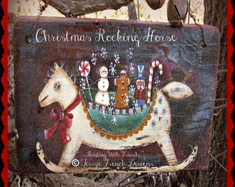 Christmas Rocking Horse - Painted by Terrye French, E-Pattern