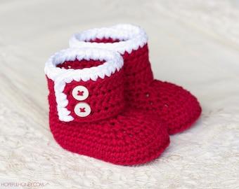 CROCHET PATTERN - Santa Claus Baby Booties
