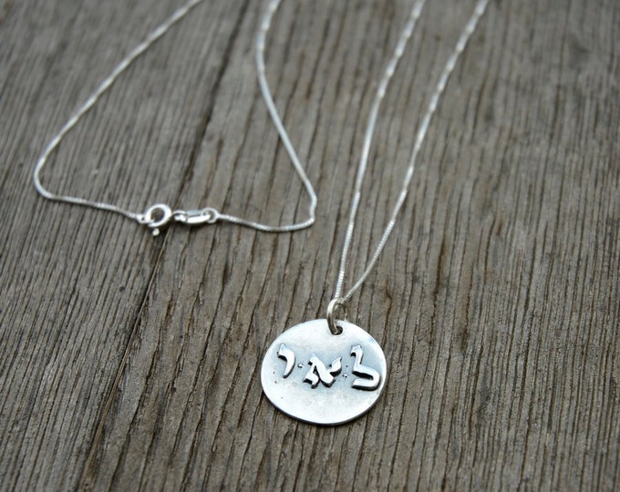 Positive Energy Kabbalah 925 Sterling Silver Round Coin Pendant
