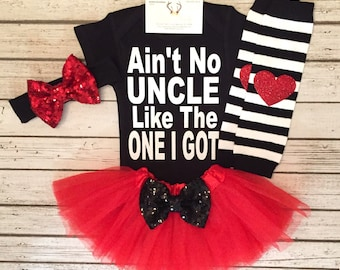 Baby Girl Clothes, Ain't No Uncle Like The One I Got Bodysuit, Uncle Bodysuits, Uncle Shirts, Uncle Gifts, Baby Girl Bodysuits, Uncle Shirts
