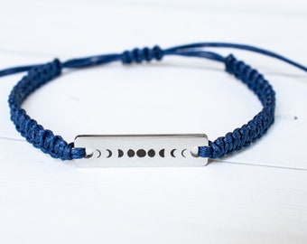 Moon Phases Bracelet, Moon Bracelet, Word Bracelet, Inspiration Bracelet, Inspiration Jewelry, Gift for Her, Friendship Bracelet