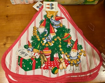 Six Gnome Christmas Placemats