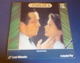 Casablanca LaserVideodisc Extended Play 1982  Black and White 1943