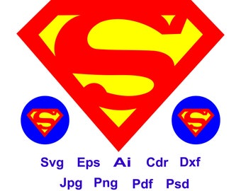 Superman logo etsy superman logo superhero svg superman svg cricut silhouette cutting file eps voltagebd Image collections