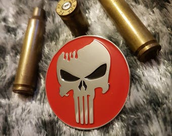 THE PUNISHER daredevil marvel comics villian enamel pin frank castle army police navy marines