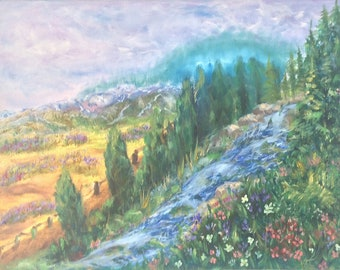 River, original landscape oil painting