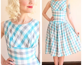 1950s Dress // Roxanne Adams Plaid Dress // vintage 50s dress
