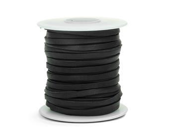Black Deerskin Lacing - (1) 50-foot spool, 1/8th inch lace.  Deerskin lace (297-18x50BL)