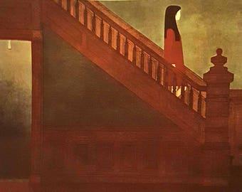 Will Barnet Stairway 1970 Original Collotype