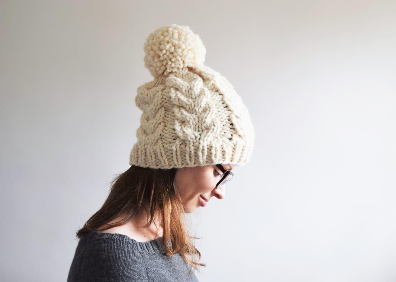 Cable Knit Hat Pattern // Cabled Hat Pattern // Cable Hat