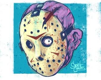 JASON VORHEES - Monster Head Print