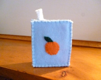 Felt Food Drink Box, Playfood Drink, Pretend Beverage