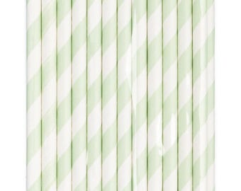Set of 24 straws decorated - baby theme