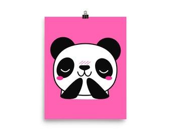 Pink panda print