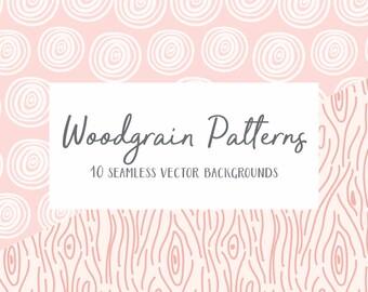 Woodgrain Patterns Vector