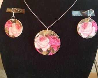 Romantic rose earring set