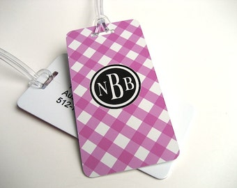 Luggage Tag Pair - Custom Monogram Luggage Tag - Spring Color - Easter Basket - Personalized Luggage Tag - Travel Tag - Your Monogram