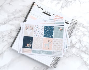 Final Sale // Oh Deer DELUXE Planner Sticker Kit (6 Sheets) - For Erin Condren Vertical Life Planner