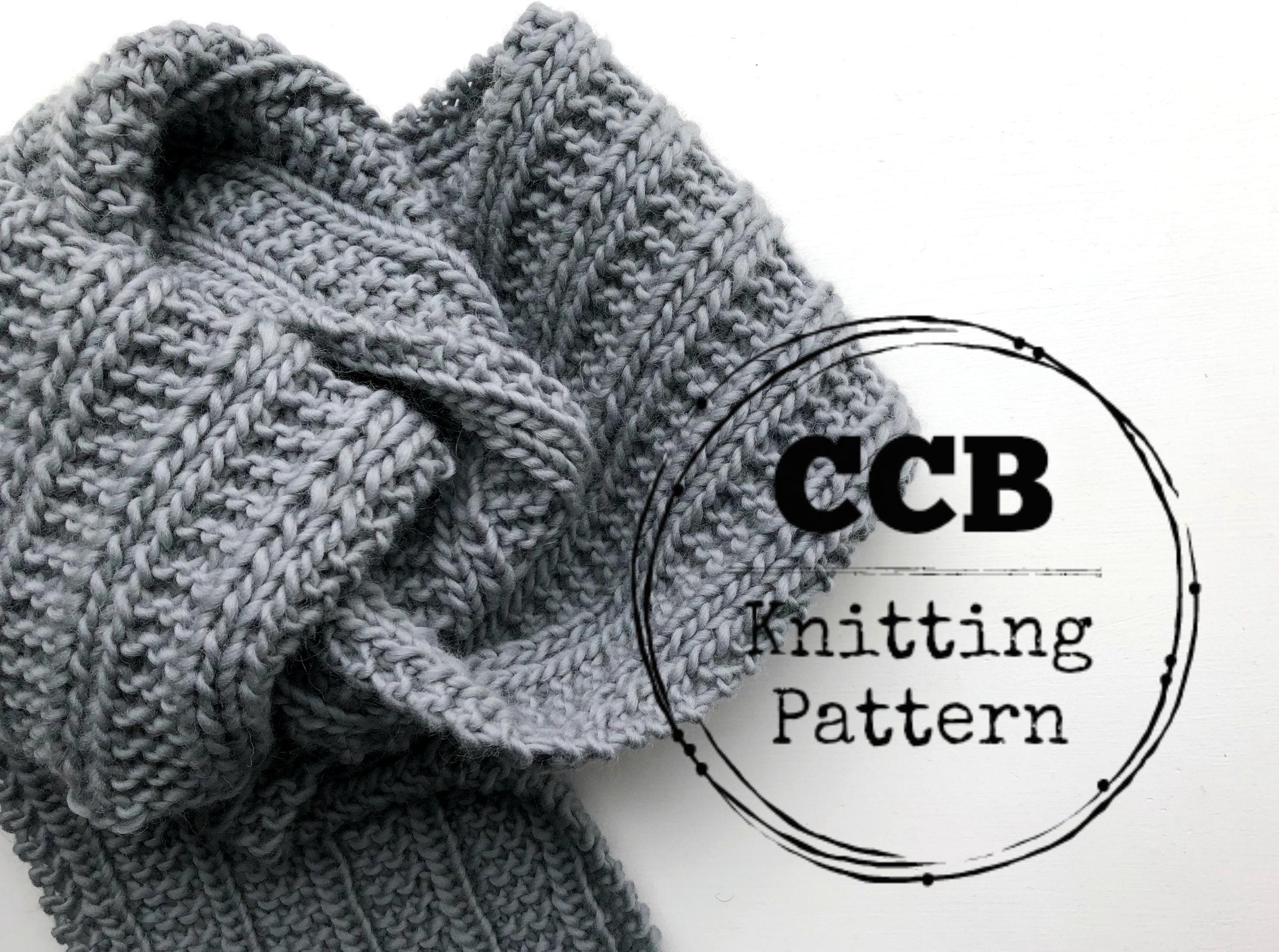 Harper Scarf Knitting PATTERN // Chunky Scarf // Beginner Scarf ...