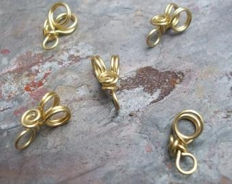 Handmade Brass Pendant Bails IV, PurpleLily Designs, SRA