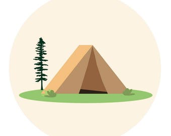 Gone Camping Print