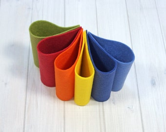 Felt Bundle - Wildflowers Collection - Wool Blend Felt Sheets, 9 x 12 inches