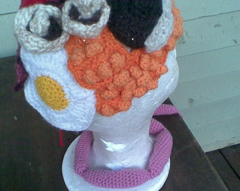 Custom Crochet Hats: Sow The Seeds Of Silliness! See listing details for examples of my work