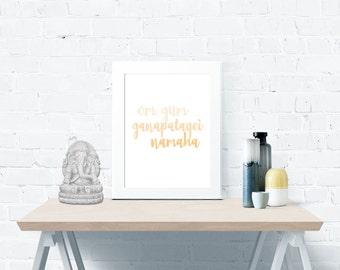 Sanskrit Mantra Om Gum Ganapatayei Namaha - Instant Digital Download Bundle
