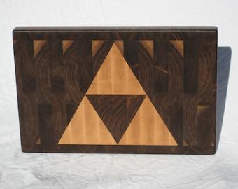 Triforce End-Grain Cutting Board
