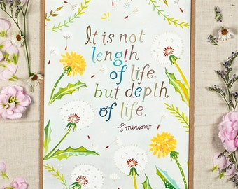 Length of Life - Greeting Card