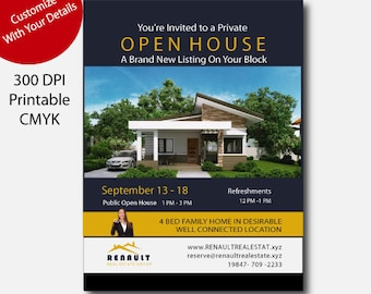 Real Estate Open House Flyer, Real Estate Open House, Real Estate Open House  Printable