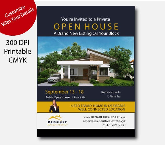 Real estate open house flyer Real estate open house Real