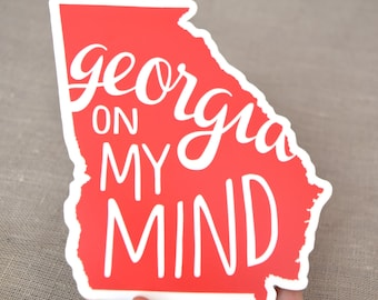 Georgia on My Mind Red Vinyl Decal