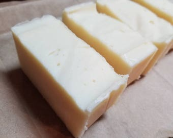 Triple Butter Moisturizing Body or Face Bar, Organic Shea Cocoa butter,  and Mango butter, face and body, unscented