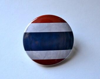 Thailand Pinback Button, Thai Flag Button, Thailand Flag Magnet, Thailand Keychain, Bangkok Thailand, Travel Button, Backpack Pins Thaïlande