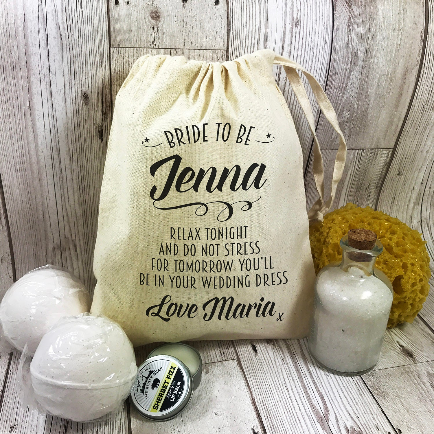 Gifts For Wedding Night: Bride To Be Pamper Night Before The Wedding Gift Set Bath