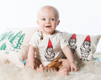 Garden Gnome Infant Bodysuit - Screen Printed Baby Clothing - Infant One Piece - Baby Bodysuit - Baby Shower Gift -  Baby Onesie - Newborn