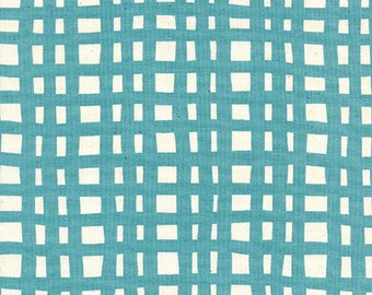Cotton + Steel - Yours Truly - Going Steady Grid Teal