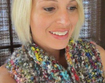 20% OFF-Carrie Colorful Hand Knit Cowl