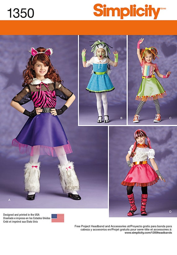 sc 1 st  Etsy & GIRLS COSTUME PATTERN / Make Monster High Equestria