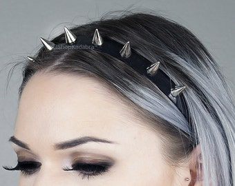 Spiked Headband | Silver Spiked Headband | Spiked Crown | Headband | Crown | Headdress | Kadabra Cult | ShopKadabra | BABY SPIKE CROWN