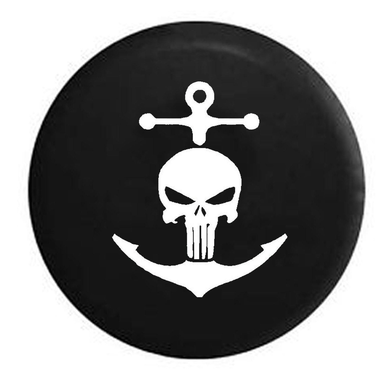 Punisher Skull Navy Military Nautical Anchor Pirate Life Jeep