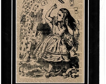 210 Alice In Wonderland vintage dictionary art