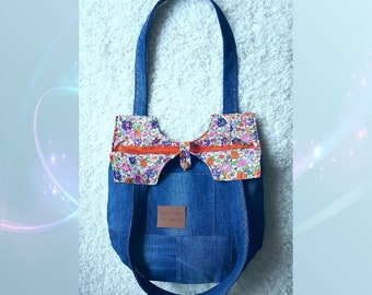 Jeans bag, denim bag, denim shoulder bag Claire