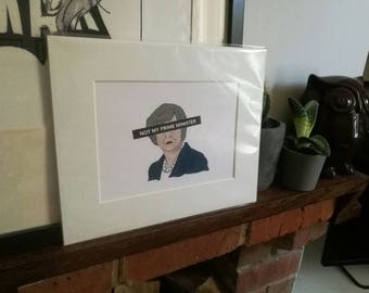 Illustrated Theresa May Not My Prime Minister F- The Tories Art Print