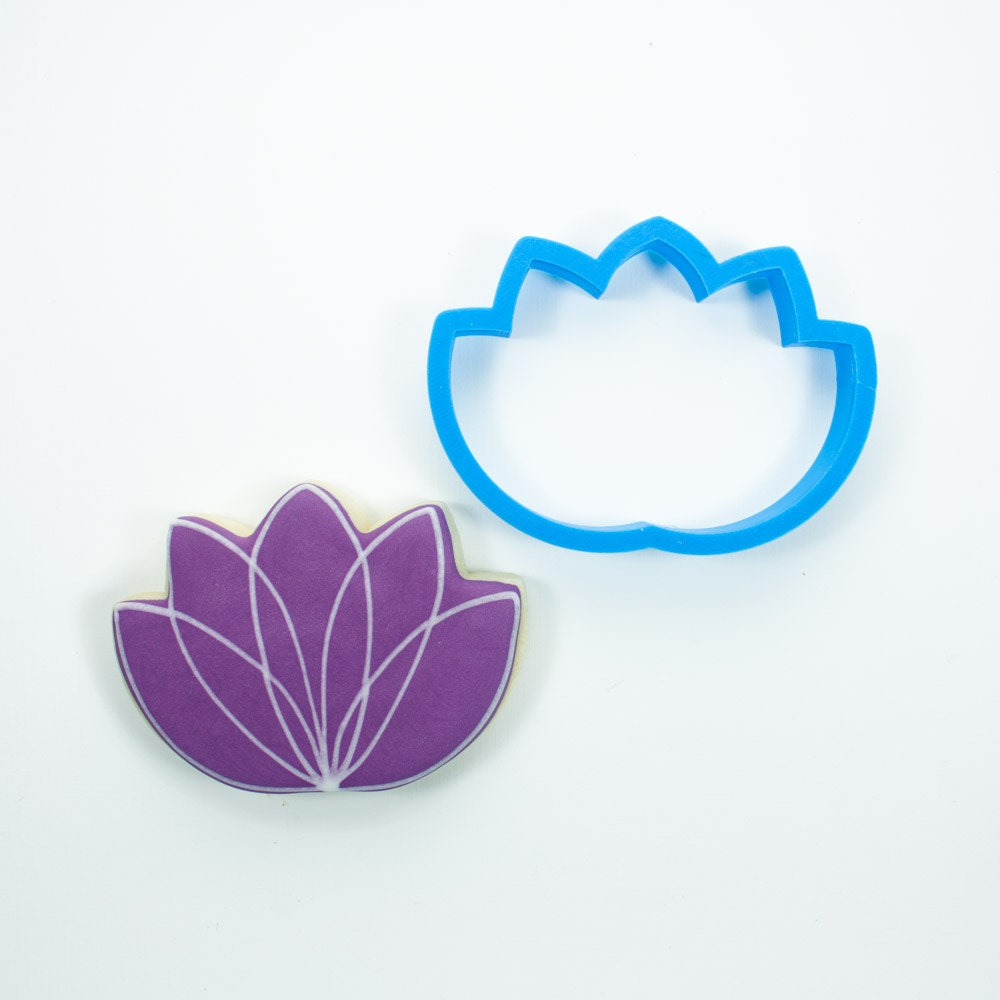Lotus Flower Cookie Cutter From Frostedco On Etsy Studio