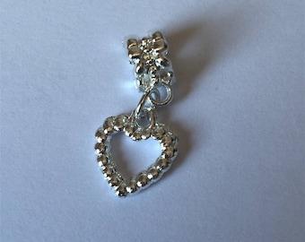 Bail + heart pendant
