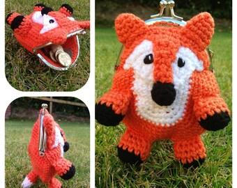 Fox Coin / Change Purse Crochet Pattern